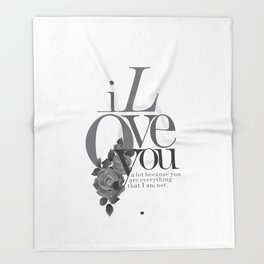 You Complete Me II - LOVE #society6 #love #buyart Throw Blanket