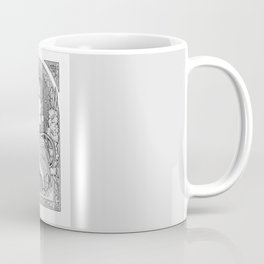 Art nouveau elf drawing black and white Coffee Mug