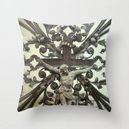 nuestro salvador Throw Pillow