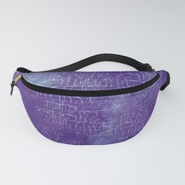 Abstract Grunge Art in Violet Purple and Blue Fanny Pack