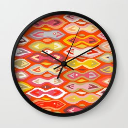 Raveena ikat Wall Clock