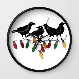 12 Days of Christmas 4 Calling Birds Wall Clock
