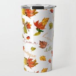 Autumn Leaves Hello Fall! Travel Mug