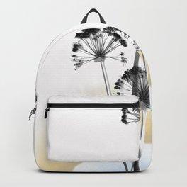 black and white flower wallpaper and the sun, flower decor, printable art Backpack