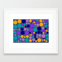 dots Framed Art Prints featuring Dots by Aloke Design