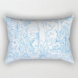 Big Blue Grove Rectangular Pillow