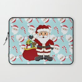 Santa and Candy Canes Laptop Sleeve