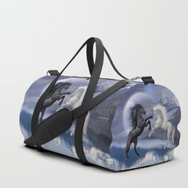 Horses and Moon Duffle Bag