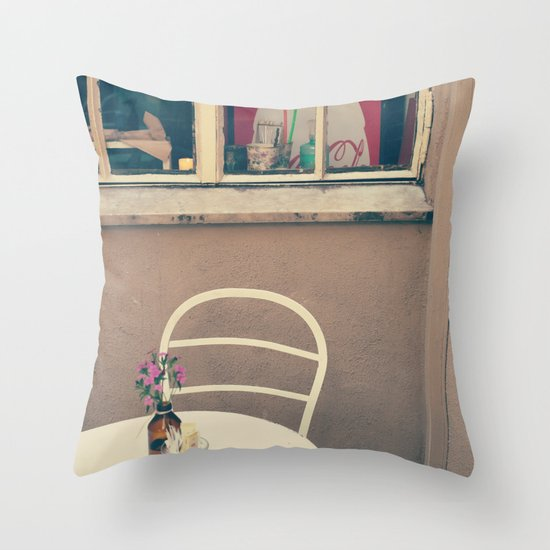 A little corner - vintage retro photography - still life  Throw Pillow