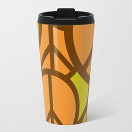 Cool Colorful Groovy Peace Symbols #society6 #decor #buyart #artprint Travel Mug