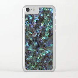 Abalone Shell | Paua Shell | Sea Shells | Patterns in Nature | Natural | Clear iPhone Case