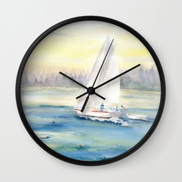 Morning In Maine  Wall Clock