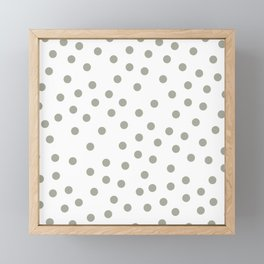 Simply Dots in Retro Gray on White Framed Mini Art Print