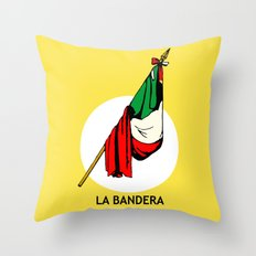 La Bandera Mexican Loteria Card Throw Pillow
