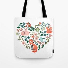 Animal Heart Tote Bag