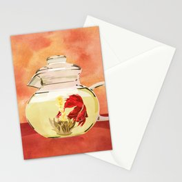 Beta Fish Tea by Kenzie McFeely Stationery Cards