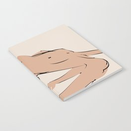 Nude Yoga pose minimalist Notebook