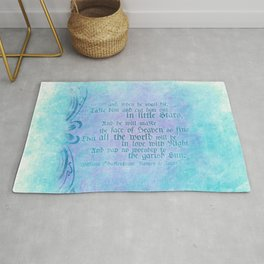 "' Take him and cut him out in little Stars"" Romeo & Juliet - Shakespeare Love Quotes Rug"