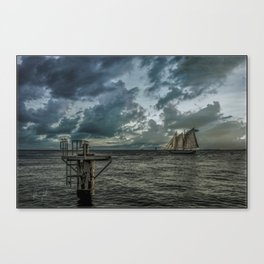 Key West Silver Sunset Canvas Print