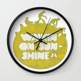 walking on sunshine Wall Clock