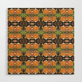 Royal Poinciana Orange Petals OP Pattern Wood Wall Art