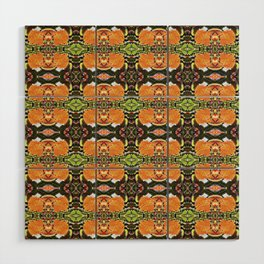 Royal Poinciana Orange Petals OP Pattern Wood Wall Art