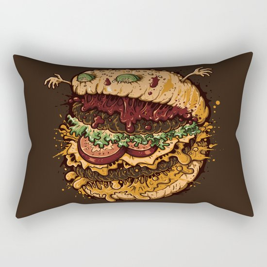Monster Burger Rectangular Pillow