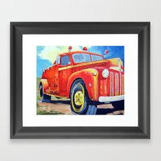 Big Red - Vintage Fire Truck  Framed Art Print