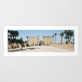 Temple of Luxor, no. 11 Art Print