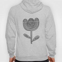 line flower 001 Hoody