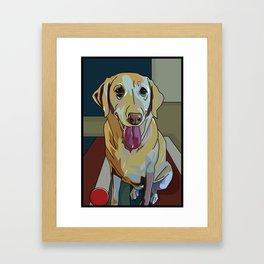 Latte Dog  Framed Art Print