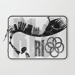 Rio de Janeiro looks like undying flame in grunge style Laptop Sleeve