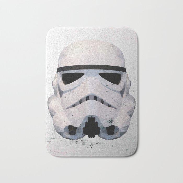 Stormtrooper Low Poly Bath Mat