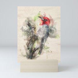 Red Headed Woodpecker Mini Art Print