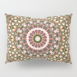 Autumn Leaves Mandala Pattern Pillow Sham