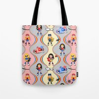girl power Tote Bags featuring Girl Power by Vannina