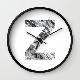 The Letter Z- Stone Texture Wall Clock