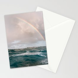 Waves I ocean vibe I rainbow I stormy ocean I ocean print I photography print I nature I Caribbean Sea Stationery Cards