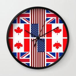 ABC Three Flags Wall Clock