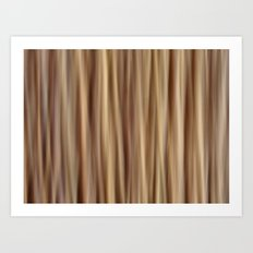Brown Stripes Art Print