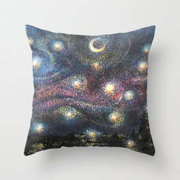 Starry Night 2 of 3 Throw Pillow
