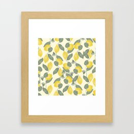 Citrus Pattern Framed Art Print