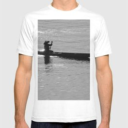 Rowing Row Boat Mekong River, Laos, Silhouette T-shirt