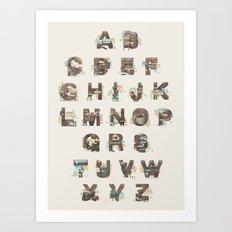 Resort Alphabet Art Print