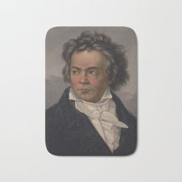 Vintage Portrait of Ludwig van Beethoven (1870) Bath Mat
