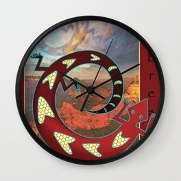 Mimbres Lizard Wall Clock