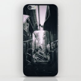 Subway reflections iPhone Skin