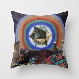 The Sky Holds a Radiant Canvas Throw Pillow