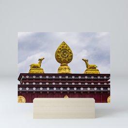 Dharma wheel - Tibetan Monastery Mini Art Print