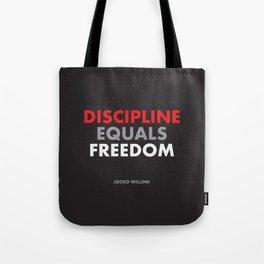 """""""Discipline Equals Freedom"""" Jocko Willink Tote Bag"""